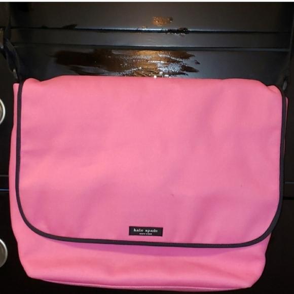 Kate Spade 💓RARE HOT PINK💌 Canvas Messenger bag